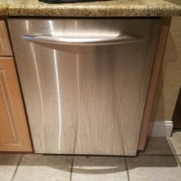Water leak since no water draining KitchenAid Dishwasher