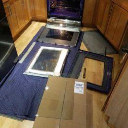 Broken oven door glass LG Range