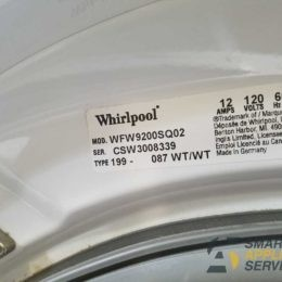 Whirlpool washer doesn't drain the water.