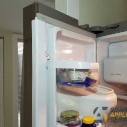 The door is loosely closed Samsung Refrigerator